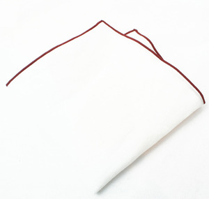 White Square / Burgundy Line