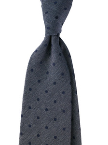 Herringbone Bluegrey In Navy Dot